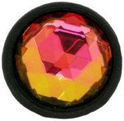 Diamond Head Upholstery Tack Crystal Stone, Kaleidoscope Diamond, 13mm in Black Setting