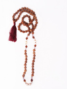 Quartz Crystal, Amber, Fresh Water Pearl, 7mm Rudraksha 108 Prayer Beads Mala