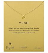 Dogeared Unisex Teeny Wishbone Necklace 41cm Gold