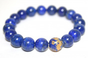 Blue Lapis Lazuli 10mm Bracelet with Dragon Bead