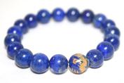 Blue Lapis Lazuli 10mm Bracelet with Dragon Bead