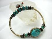 9GreenBox - Tibet Handmade Bracelet With Old Sliver Nature Turquoise Elegant Design