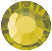 Mode Beads Preciosa Crystal Flatback Beads, Olive Green, 10 Gross Package