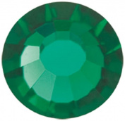 Mode Beads Preciosa Crystal Flatback Beads, Emerald Blue, 10 Gross Package