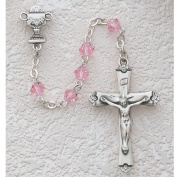 Boys Girls Childrens First Communion Rosary with Chalice Centrepiece Geniune Tin Cut Crystal Beads