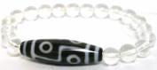 6 Eye Dzi Bracelet with Clear Quartz