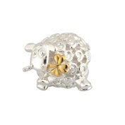 Sterling Silver and Gold Plated Sheep Bead-Made in Ireland