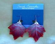 Wire Mesh Leaf Earrings
