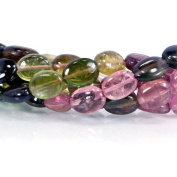 Multi-colour Tourmaline Plain Ovals Approx. 7x5mm average Approx. 14.5 inch