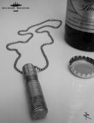 The STUD Mens Mile High Rockstar Original Aviation Dog Tag Pilot Chain Necklace
