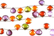 Multi Colour CZ Briolette -