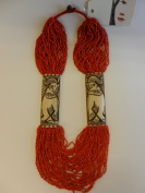 Nepali Coral Bone Necklace, Red