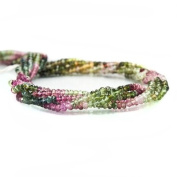 Multi Colour Tourmaline Faceted Rondelle Beads