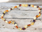 Wholesale 10 Olive Shape Baltic Amber Teething Necklaces