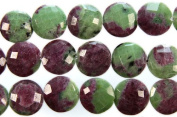 Faceted Ruby Zoisite Coins -
