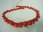 48cm Genuine Mediterranean Red Coral Graduated Branch Bead Necklace