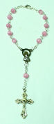 Pink Mini Rosary Bracelet with Silver Plated Chain-100 Pieces by Favorvillage