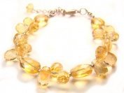 BA8391F Natural Citrine Mixed Shapes Findings Bracelet