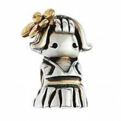 Marketplace 161024 Gold Hula Girl Bead in Sterling Silver & 14K Yellow Gold Moress XGS-20