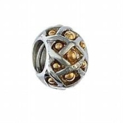 Marketplace 161003 Woven Bead with 14K Gold Balls & Sterling Silver Moress XGS-02