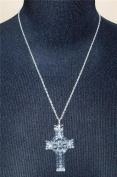 Waterford Crystal Celtic Cross Pendant with 80cm Sterling Silver Chain