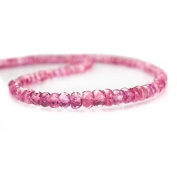 Pink Tourmaline Faceted Rondelle
