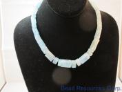 Nature Aquamarine Gemstone A Grade Beads Facted Tube 46cm per Strand Necklace Jewellery Making