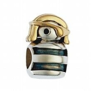Marketplace 161021 Gold Pirate Bead in Sterling Silver & 14K Yellow Gold Moress XGS-17