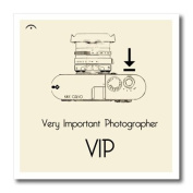 3dRose ht_15158_2 Vip Very Important Photographer Iron on Heat Transfer for White Material, 15cm by 15cm