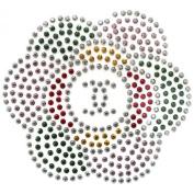 Rhinestone Iron on Transfer Hot Fix Motif Crystal Fashion Design Flower Love 94 3 Sheets 5.3*12cm