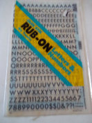 Quik Stik, 773, Rub-On, Dry Transfer, Letters & Numbers, 1.3cm , (48 Pt), Futura, Black, Made in USA