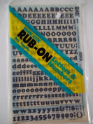Quik Stik, 675, Rub-On, Dry Transfer, Letters & Numbers, 1.3cm , (48 Pt), Cooper, Black, Made in USA