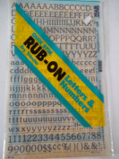 Quik Stik, 671, Rub-On, Dry Transfer, Letters & Numbers, 1.3cm , (48 Pt), Keepsake, Black, Made in USA