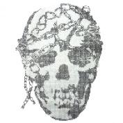 Rhinestone Iron on Transfer Hot Fix Motif Fashion Design Jewellery Skull Story a 3 Sheets 11*36cm