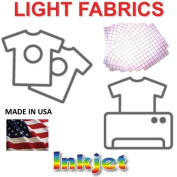 Transfer Paper for Ink Jet Printing 8.5 x 11 Light Fabrics, 500 Pack