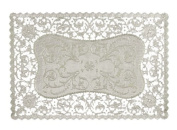 Royal French Lace Rectangular Paper Placemats, 25cm x 37cm , Pack of 16