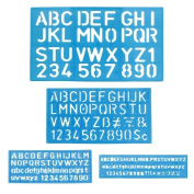Letter and Number Stencil Sets - Sizes 8, 10, 20, 30mm - Assorted Colours