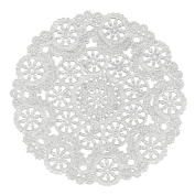 Royal Medallion Lace Round Paper Doilies, 13cm , Pack of 36