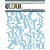 Clear Scraps Stencils 15cm x 15cm -ABCs