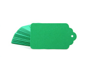 Pack of 20 Green Retro Gift Tag Scallop Tags Great for Scrapbooking and Craft