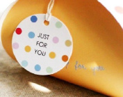 "20 Round ""Just for you"" 50mm Diameter Tag with String"