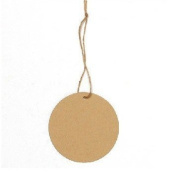 20 Round Paper Brown Tag price label with 20 Strings