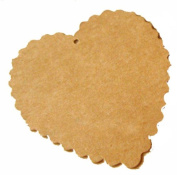 Pack of 20 Brown Heart Gift Tag with 20 Brown Strings