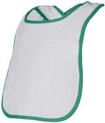Rabbit Skins Infant Terry Snap Bib (White_Kelly)