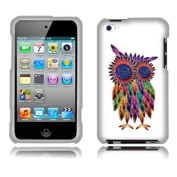FINCIBO (TM) Premium Hard Crystal Plastic Snap On Protector Cover Case Front And Back For Apple iPod Touch 4 (4th Generation) - Feather Owl