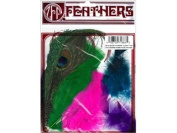 Zucker Feather Products Peacock Eye/Sword Decorative Feather, Guinea Plumage/Hackle/Schlappen Mix