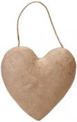 Paper Mache Puffy Heart 14cm -