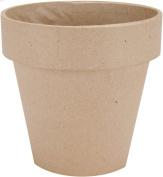 DCC Paper Mache Flower Pot, 13cm