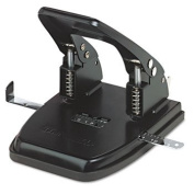 30-Sheet Two-Hole Punch, 0.7cm Holes, Black - UNV74222
