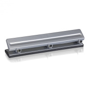 Officemate Economy 3 Hole Punch, 8 Sheet Capacity, Silver
